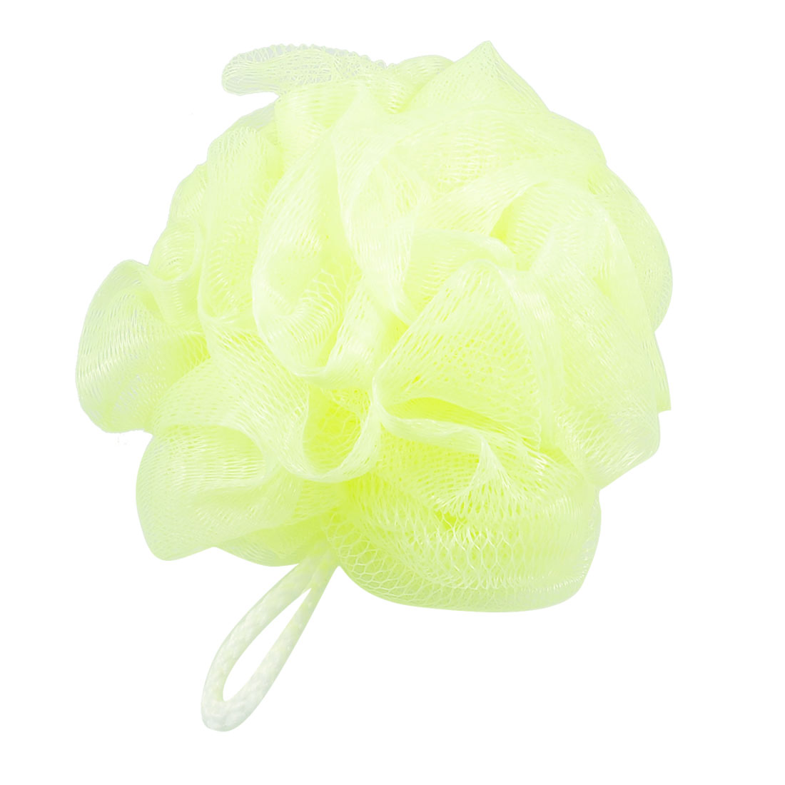 Household Nylon Bath Lather Scrubber Shower Pouf Body Cleaner Yellowgreen