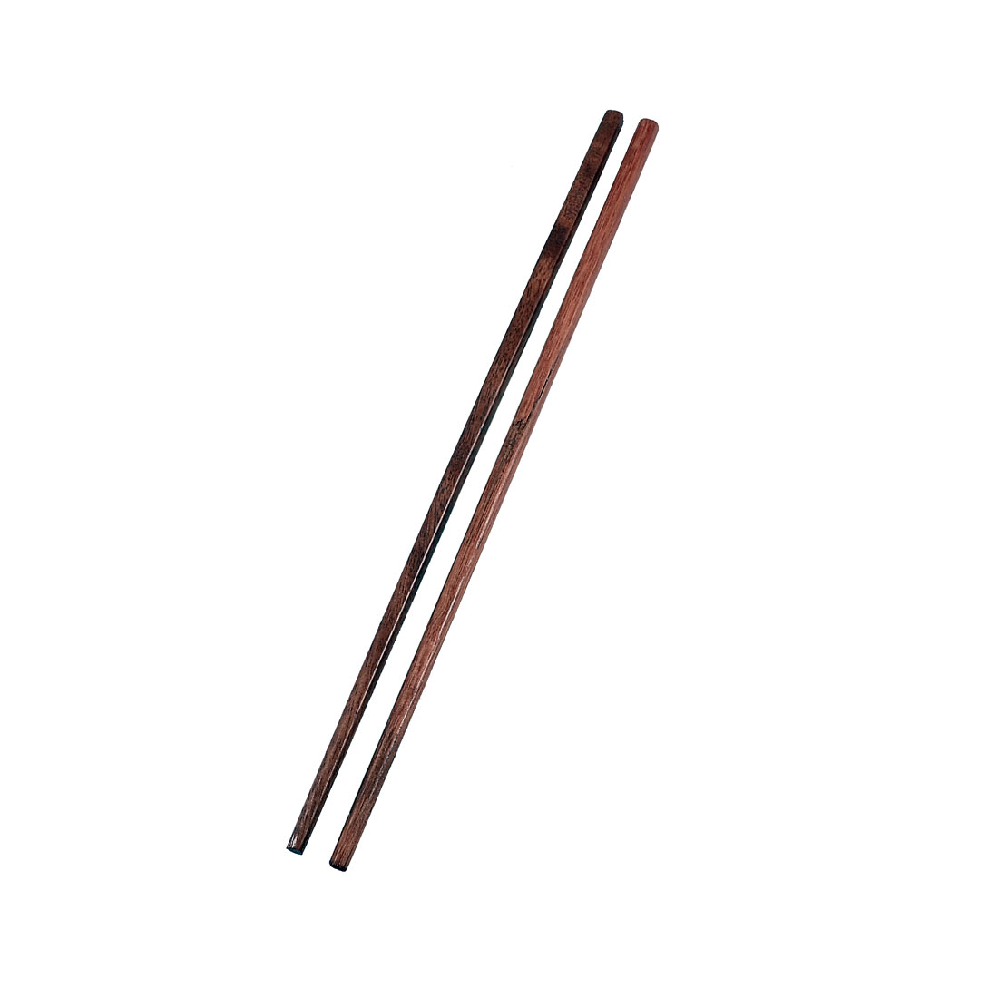 "5 Pairs Square Top 9.5"" Length Brown Wooden Chopsticks Kitchen Tool"