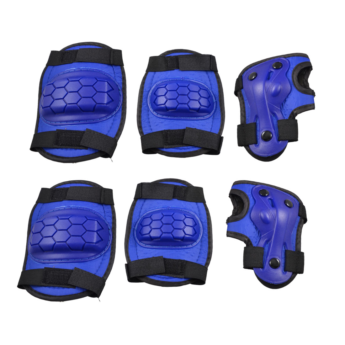 Nylon Adjustable Strap 3 in 1 Palm Elbow Knee Support Gear Set Blue