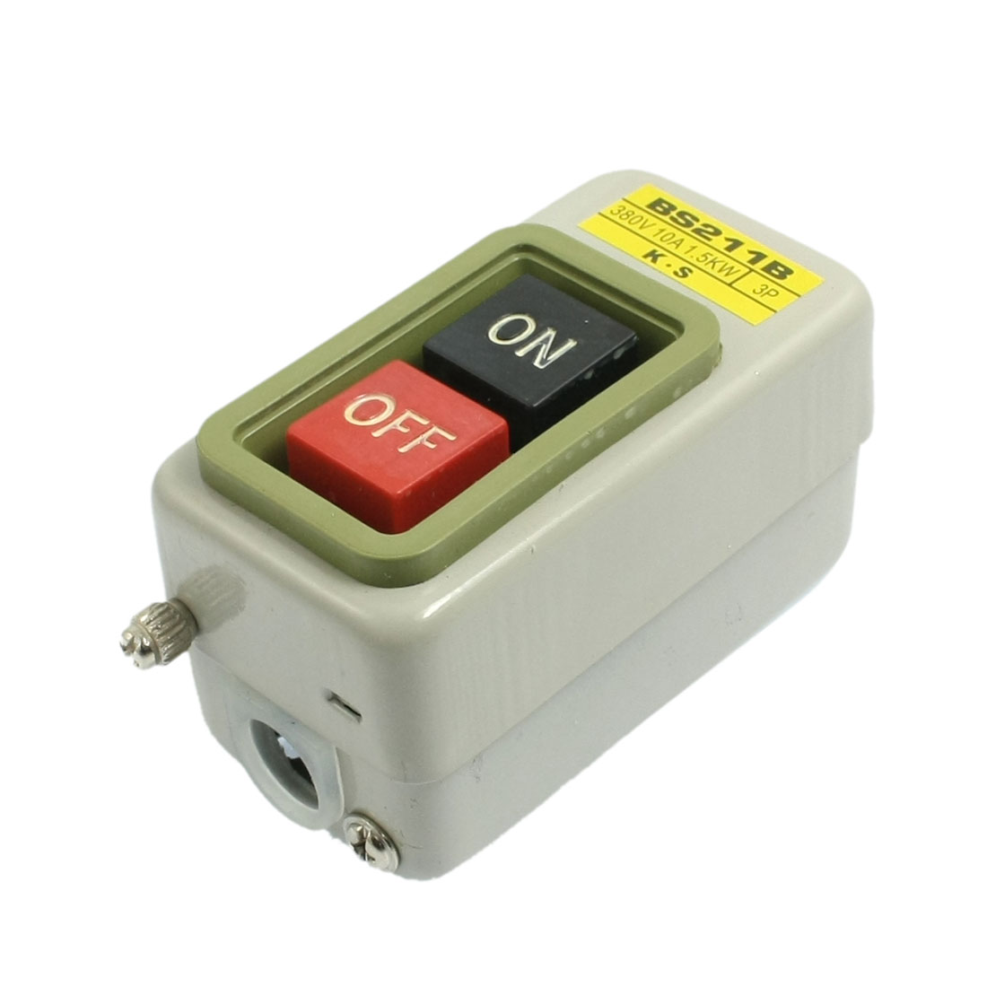 BS-211B Momentary On/Off Power Push Button Control Switch 3P 380V 10A 1.5KW