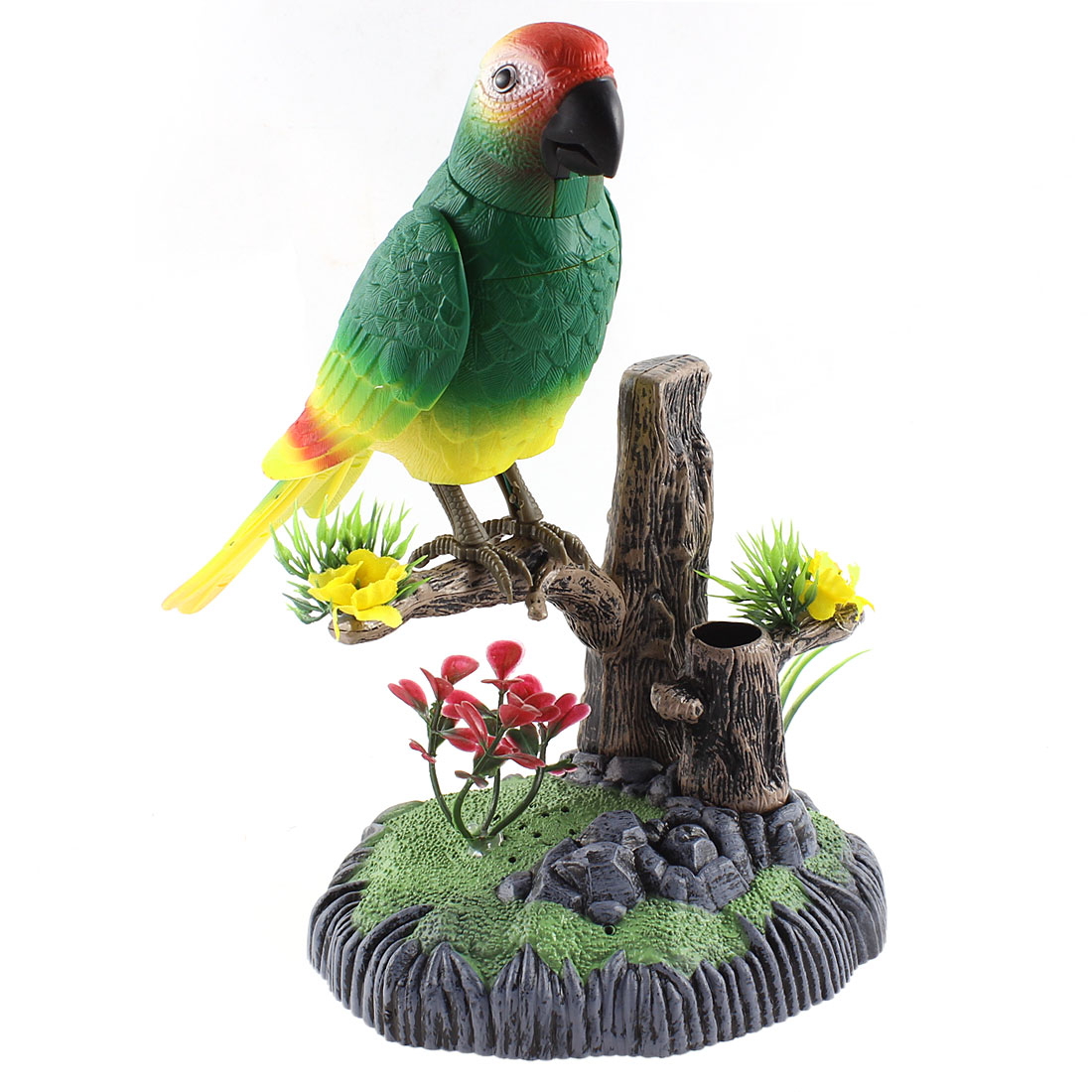 Colorful Plastic Toys Sound Activated Voice Control Chirping Parrot