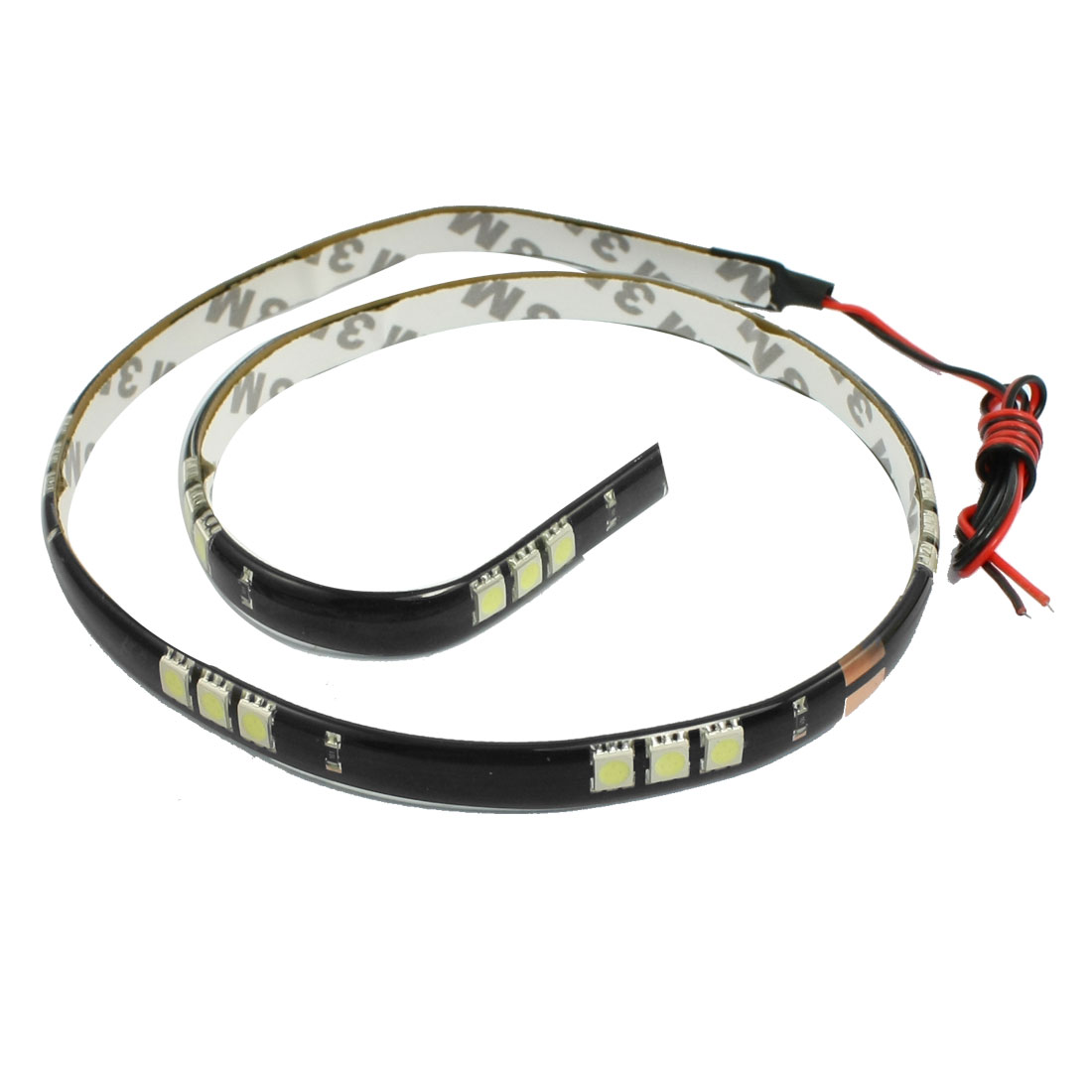 White 60CM 30LED 12V Car 5050 SMD Top Emitting Glow Flexible LED Strip Light internal