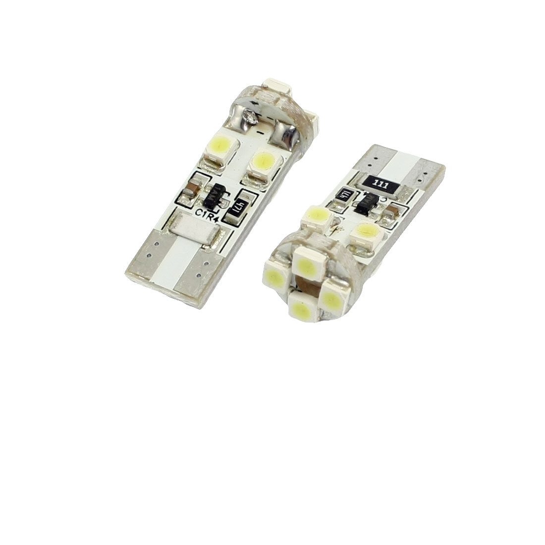 2 Pcs Car Canbus White 1210 3528 SMD 8-LED Light License Plate Lamp