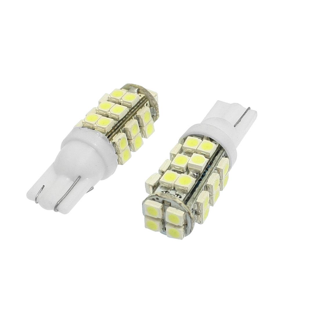 2 Pcs Car White T10 1210 3528 SMD 28-LED Light Bulb Lamp