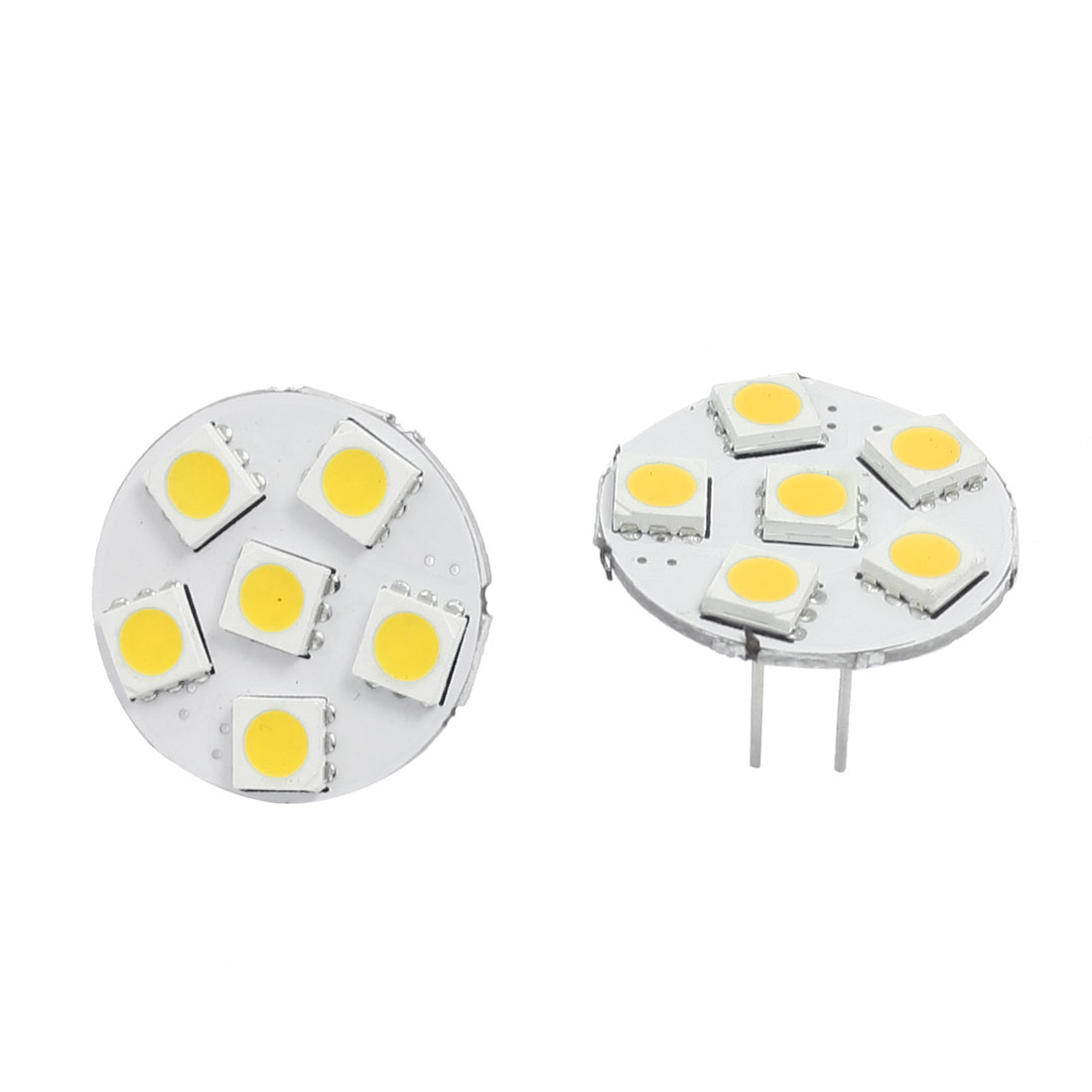 2 Pcs Car G4 Warm White 5050 SMD 6-LED Bulb Light Dashboard Lamp