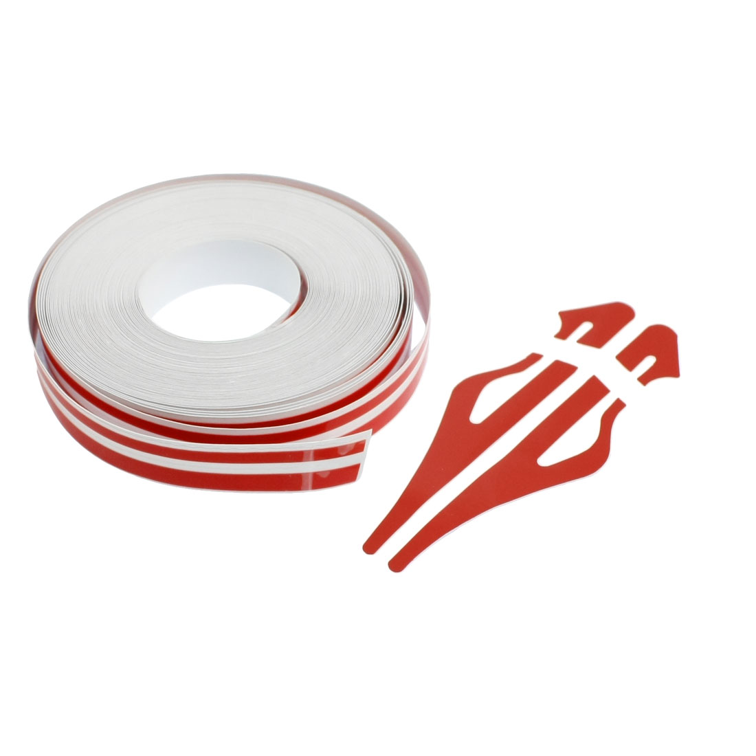 12mm x 9800mm Red White Car Auto Adhesive Tape Stripe Sticker