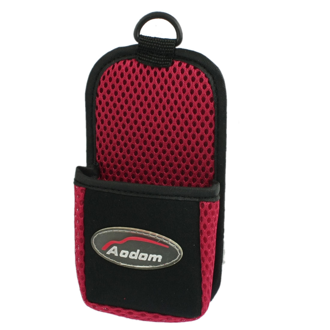Car Auto Air Vent Mount Red Black Mobile Phone Pouch Holder Bag