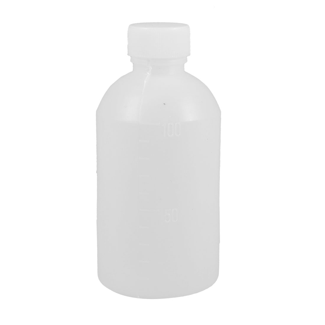 100mL Capacity Laboratory Graduated White Plastic Carboy Bottle