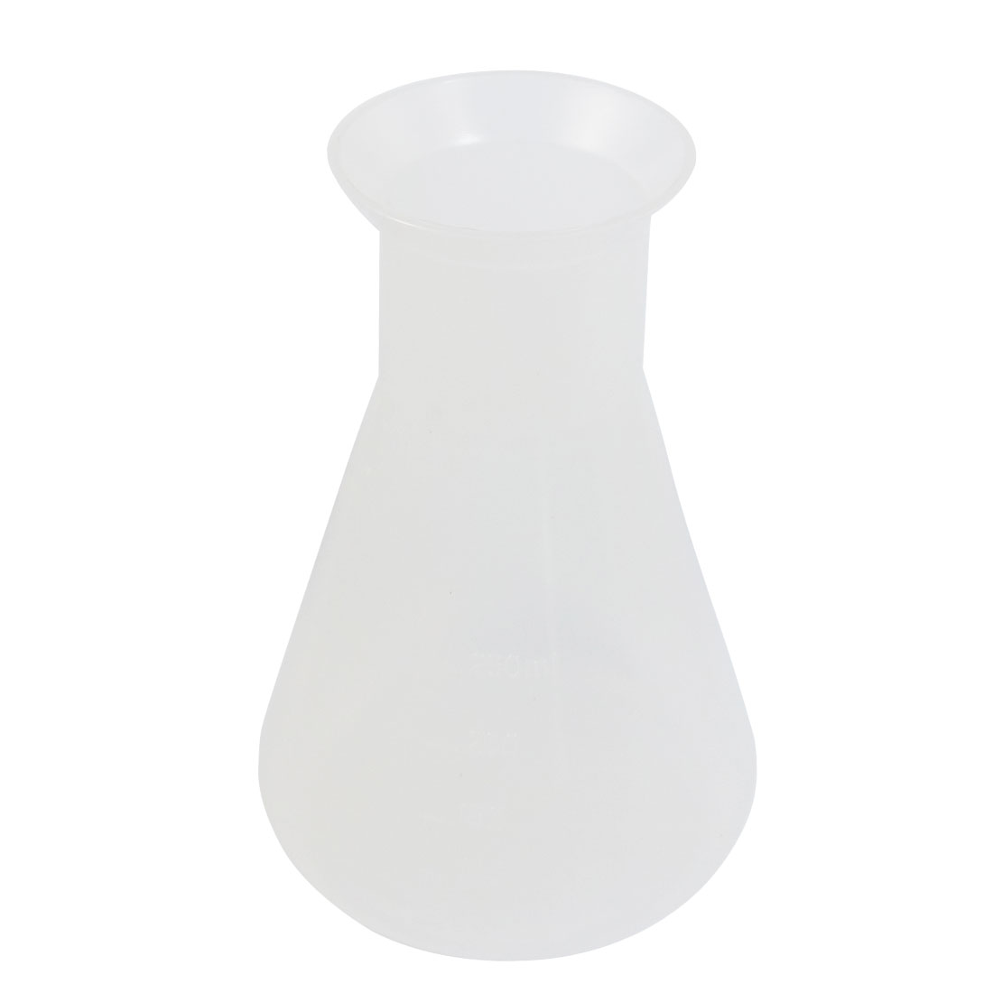 250ml Clear Plastic Laboratory Chemical Conical Flask Storage Bottle