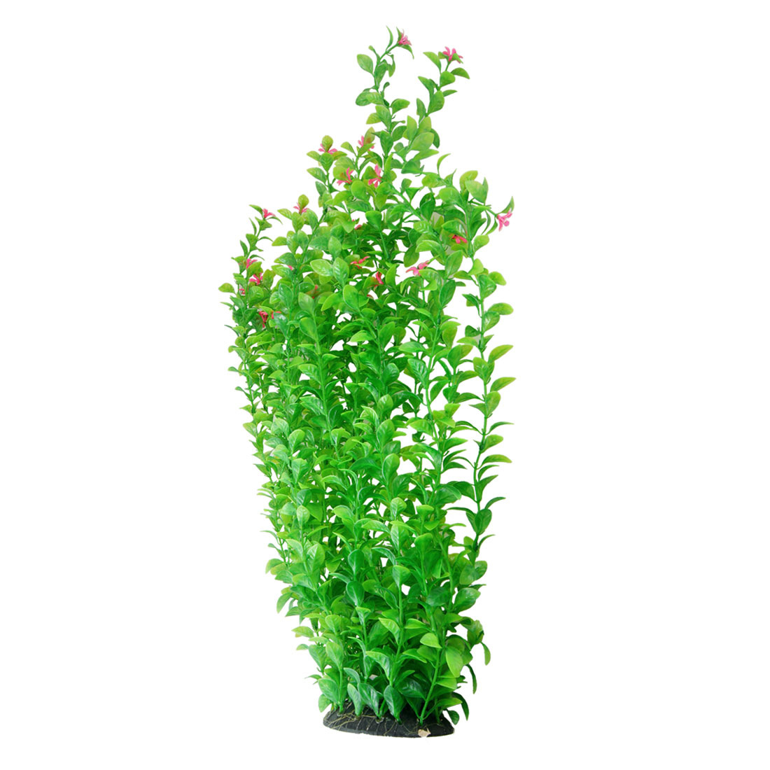 Fish Tank Pink Flower Green Simulation Plants Grass Ornament