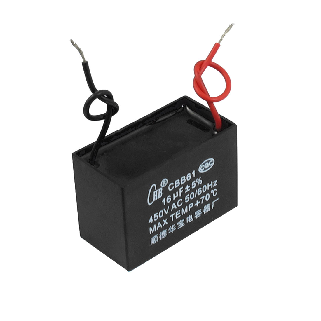 CBB61 16uF AC 450V Rectangle Non Polar Motor Run Capacitor