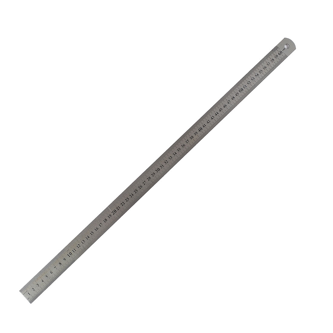 Carpentry 2 Side 60cm Stainless Steel Straight Measuring Ruler
