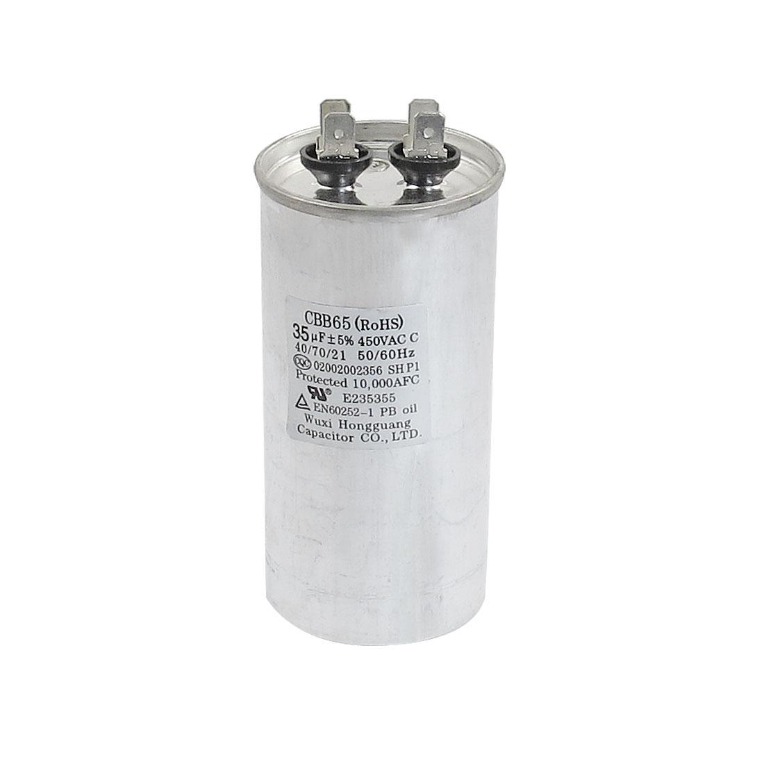 450VAC 35uF Cylindrical Refrigerator Motor Running Capacitor CBB65