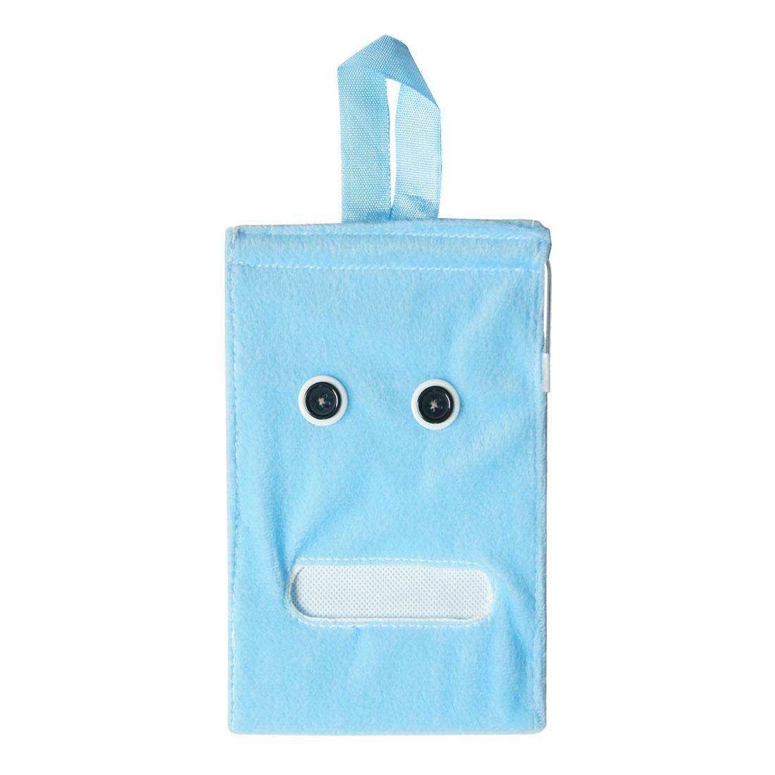 Sky Blue Plush Toilet Roll Paper Holder Tissue Dispenser