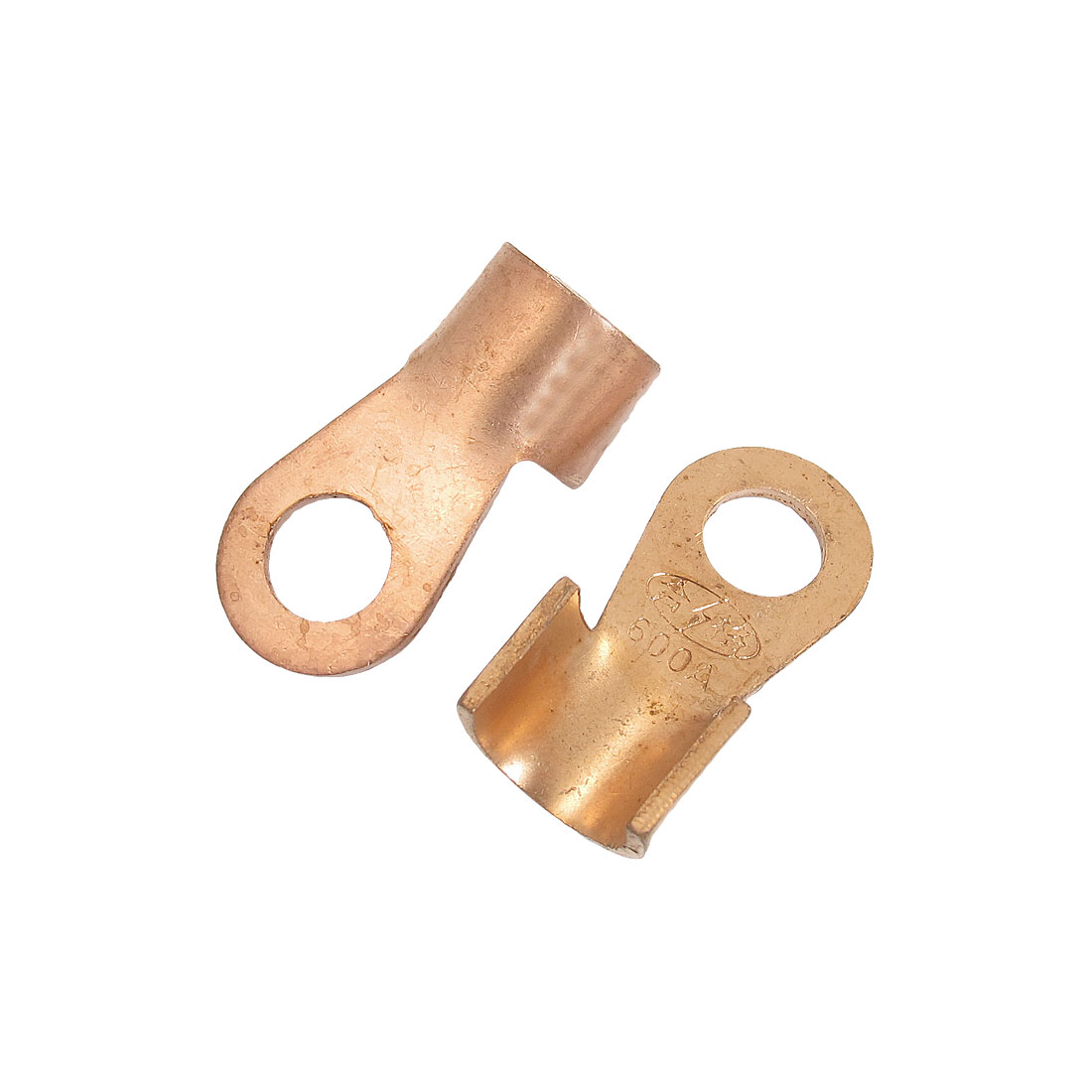2 Pcs 22mm 600A Open Cable Connector Ring Tongue Copper Passing Through Terminals