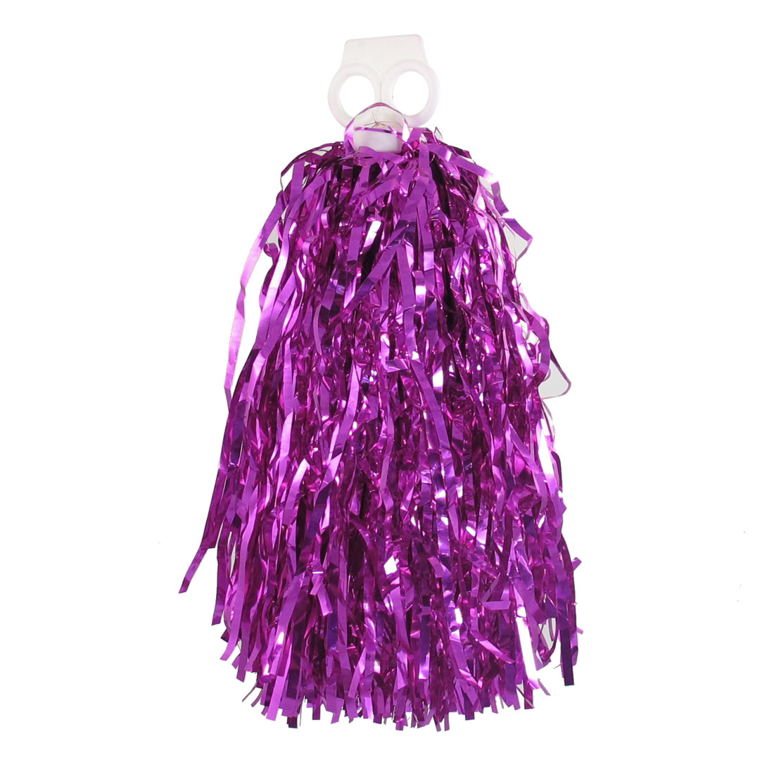 Party Plastic Dance Cheerleading Handle Pom Poms Cheer Pompons Fuchsia