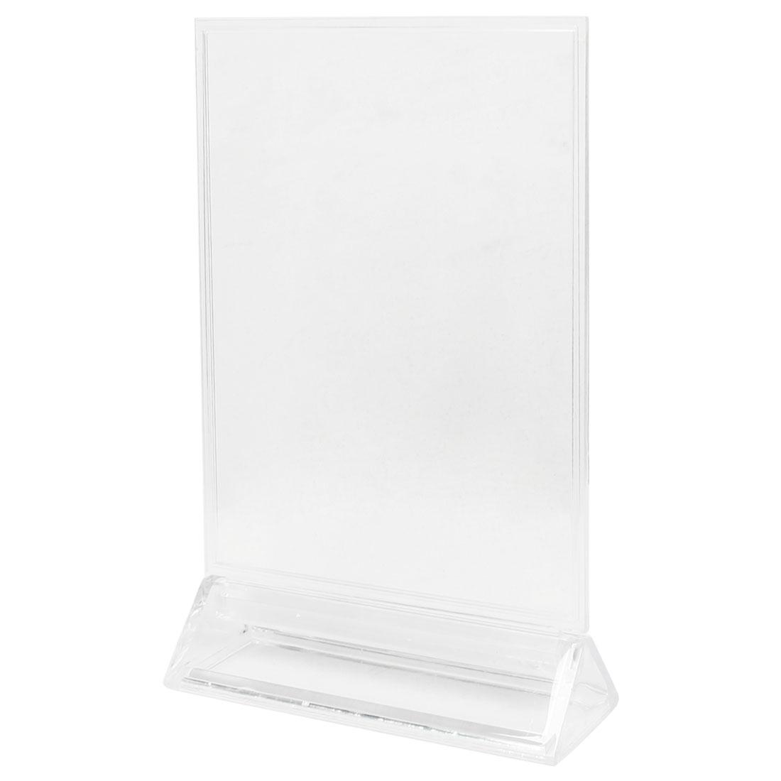 Fair Show Clear Detachable Plastic Table Display Holder 15 x 20cm