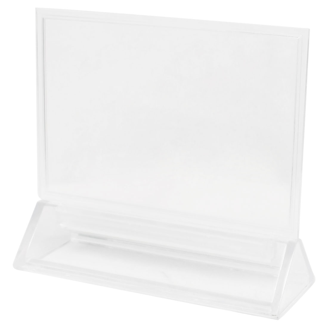 Fair Meeting Clear Detachable Plastic Table Display Holder 15 x 10cm