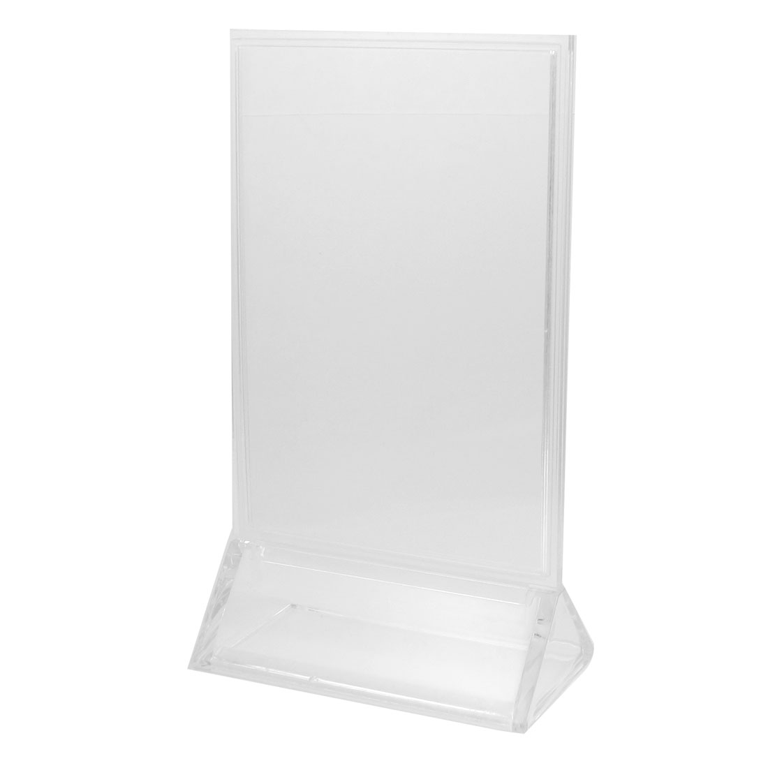 Fair Show Clear Detachable Plastic Table Display Holder 10cm x 15cm