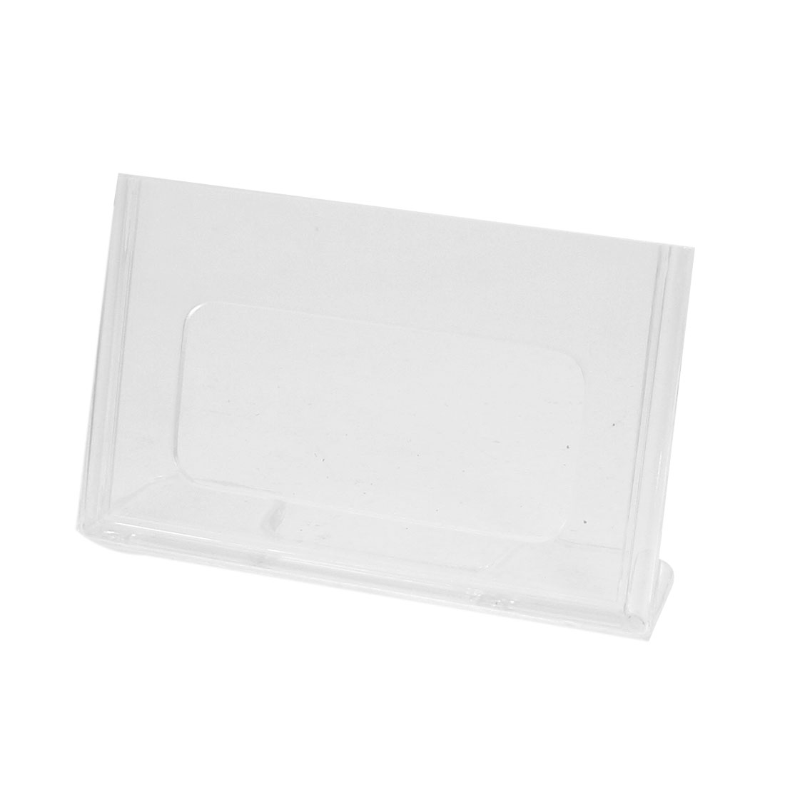 L Shapes Bases Clear Plastic Rectangle Table Display Holder 5.4 x 8.5cm