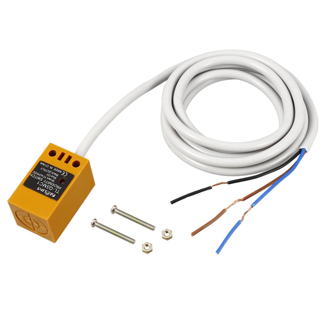 TL-Q5MC1 PNP NC 3-wire 5mm Inductive Proximity Sensor Switch Detector DC 12-24V