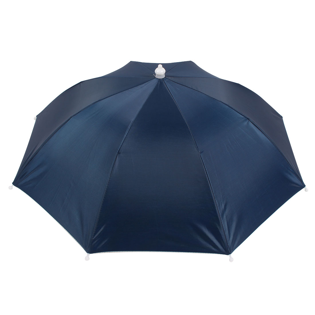 Outdoor Sports Elastic Band Fishing Rain Sun Umbrella Hat Indigo Blue