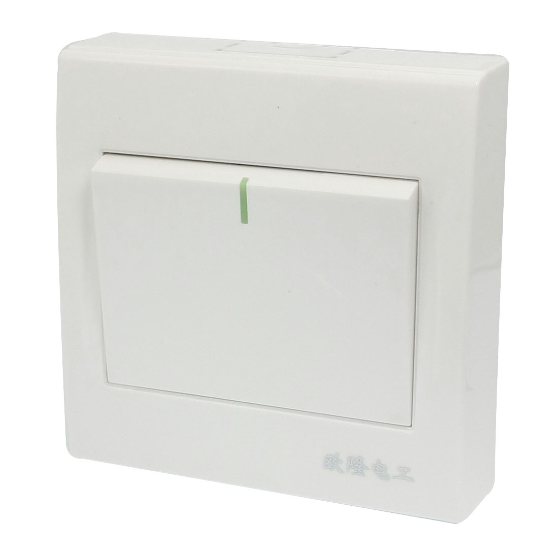 AC 250V 10A 1 Gang White Plastic Housing Control SPST Wall Panel Switch