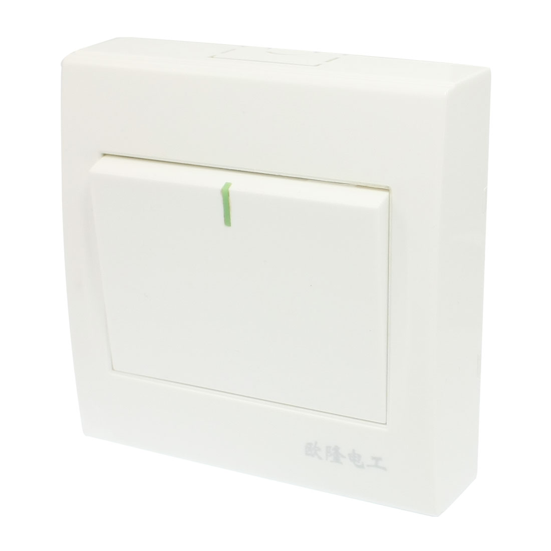 AC 250V 10A 1 Gang White Plastic Housing Control SPDT Wall Panel Switch