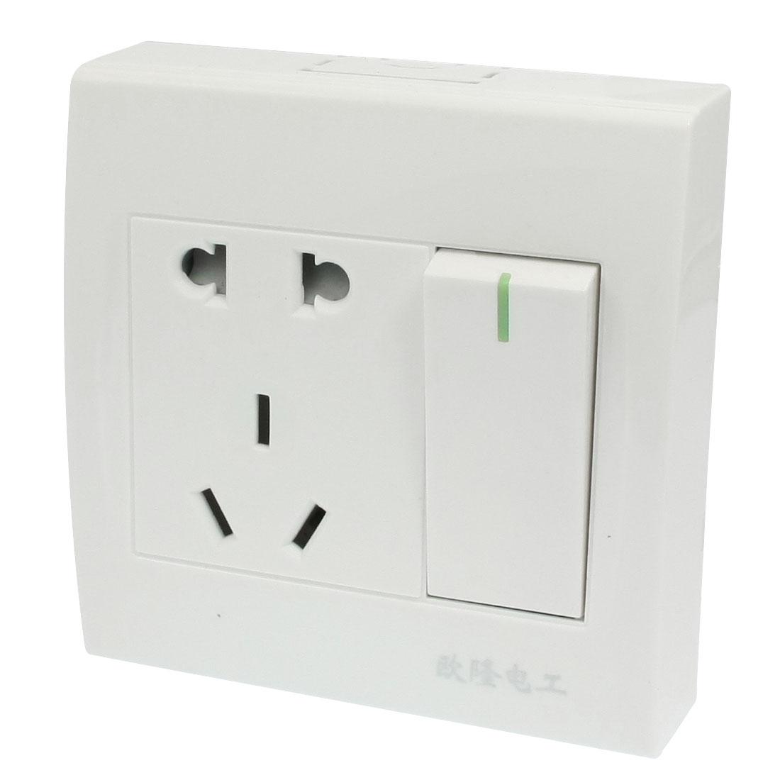 US EU Outlet AU Socket Single Switch Wall Plate AC 250V 10A