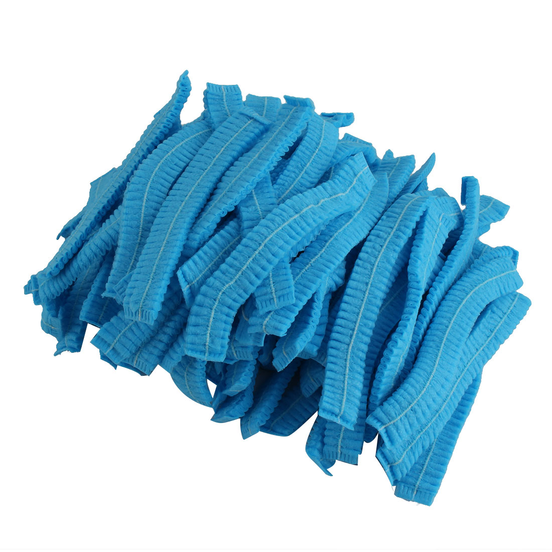 Hospital Pleated Blue Non-woven Fabric Anti Dust Disposable Mop Cap 110 Pcs