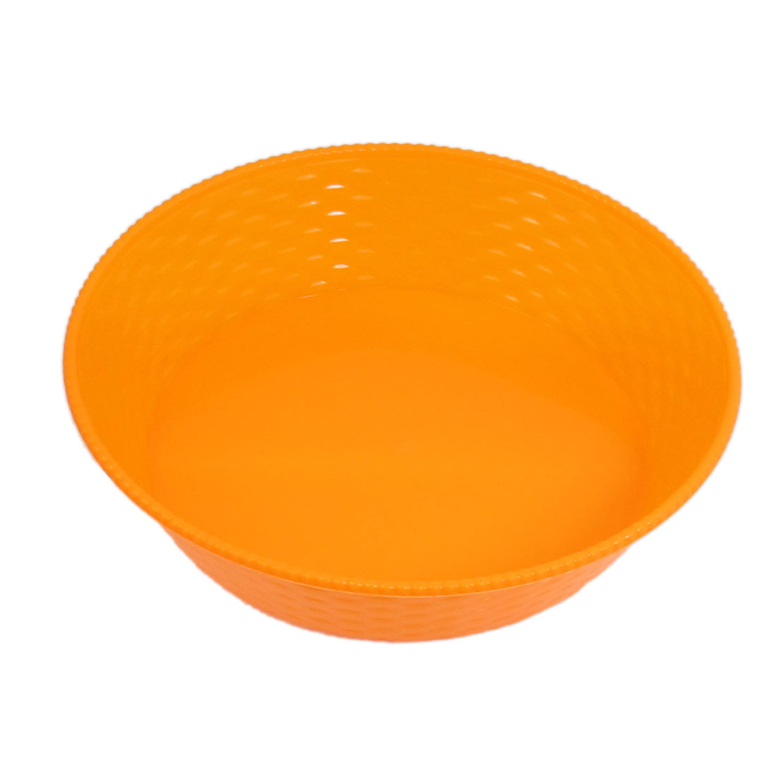Orange Plastic Round Shaped Sundries Storage Plate Holder for Home