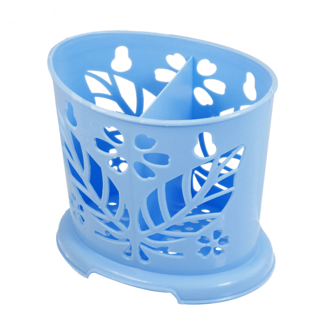 Kitchenware Blue Perforated Bottom Plastic Chopstick Holder Case