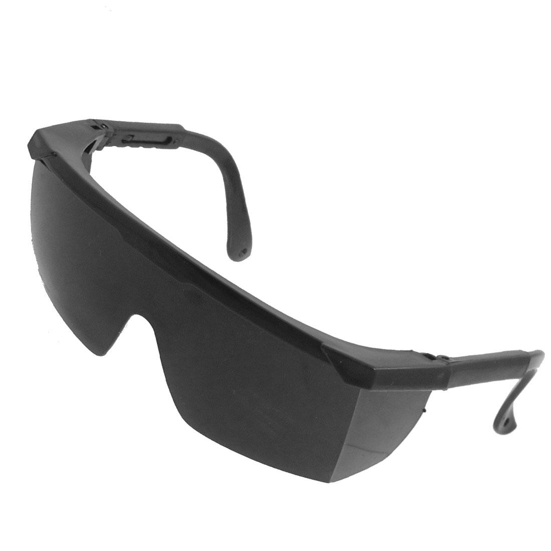 """5.4"""" Width Half Frame Uni Lens Safety Protective Goggles Black"""