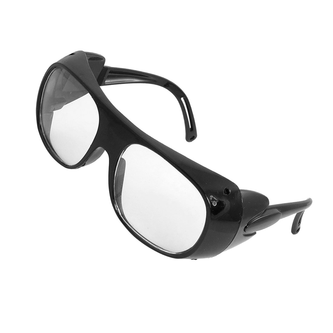 Black Plastic Arms Transparent Square Lens Dust Shielded Goggles