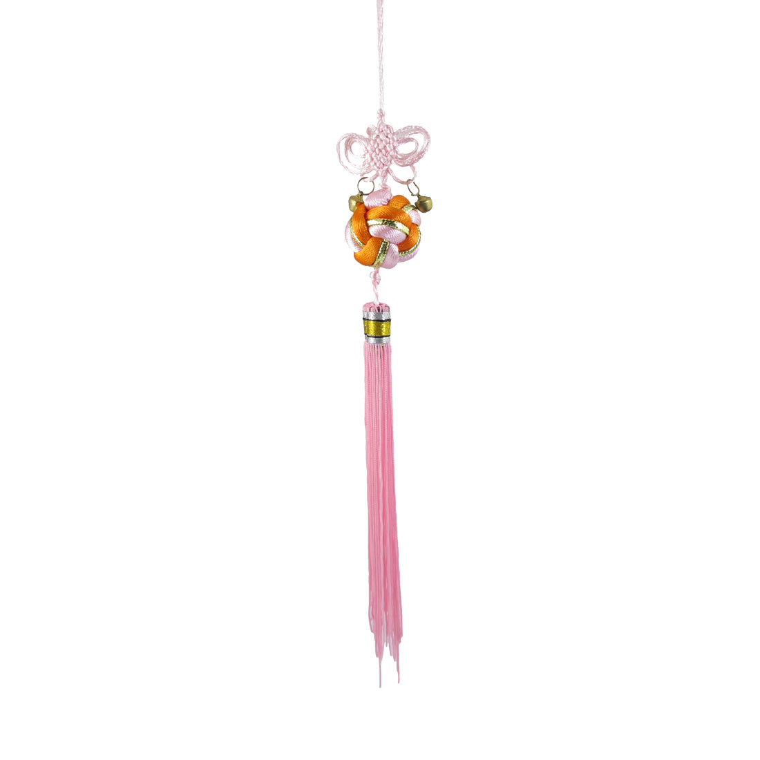 Pink Orange Ball Shaped Handcraft Chinese Knot Hanging Oranment