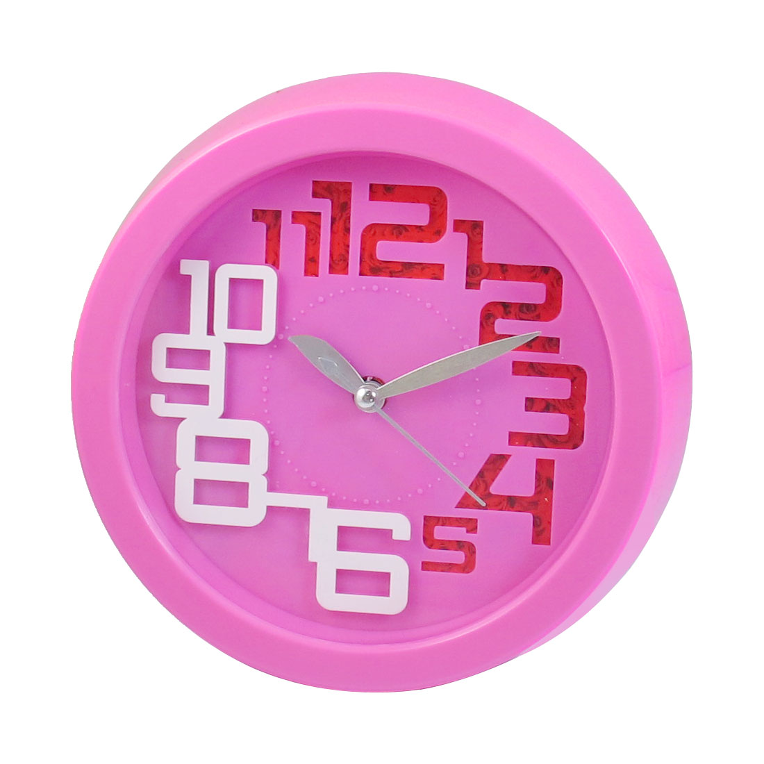 Pink Round Shaped Case Wall Mounted Clock Decoration