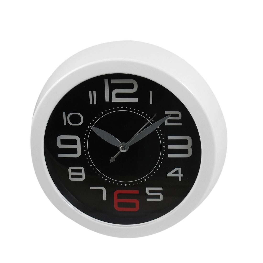 White Hard Plastic Round Shaped Shell Wall Mounted Clock