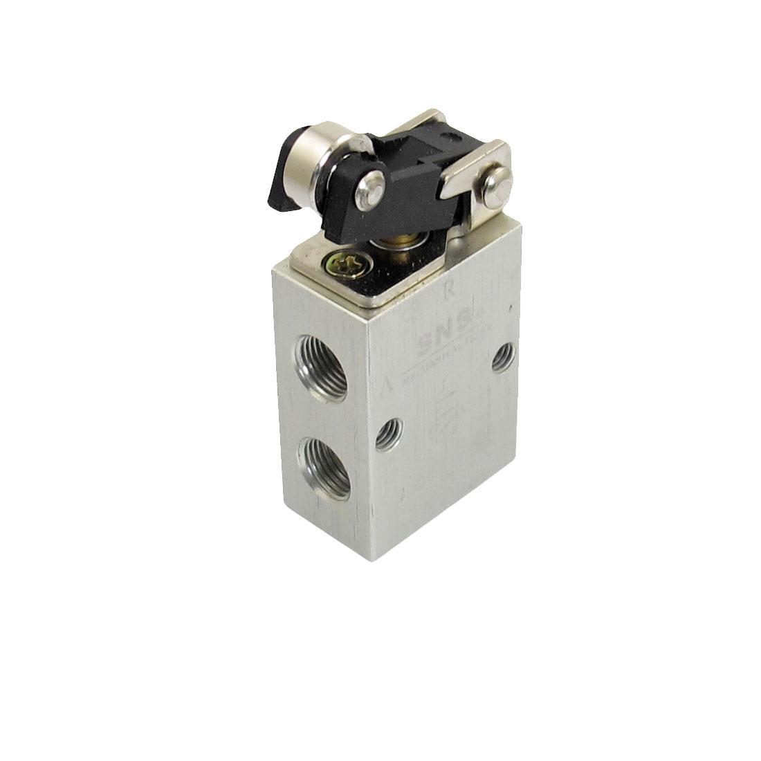 "S3R-06 2 Position 3 Way Mechanical Roller Pneumatic Valve 1/8"" PT"