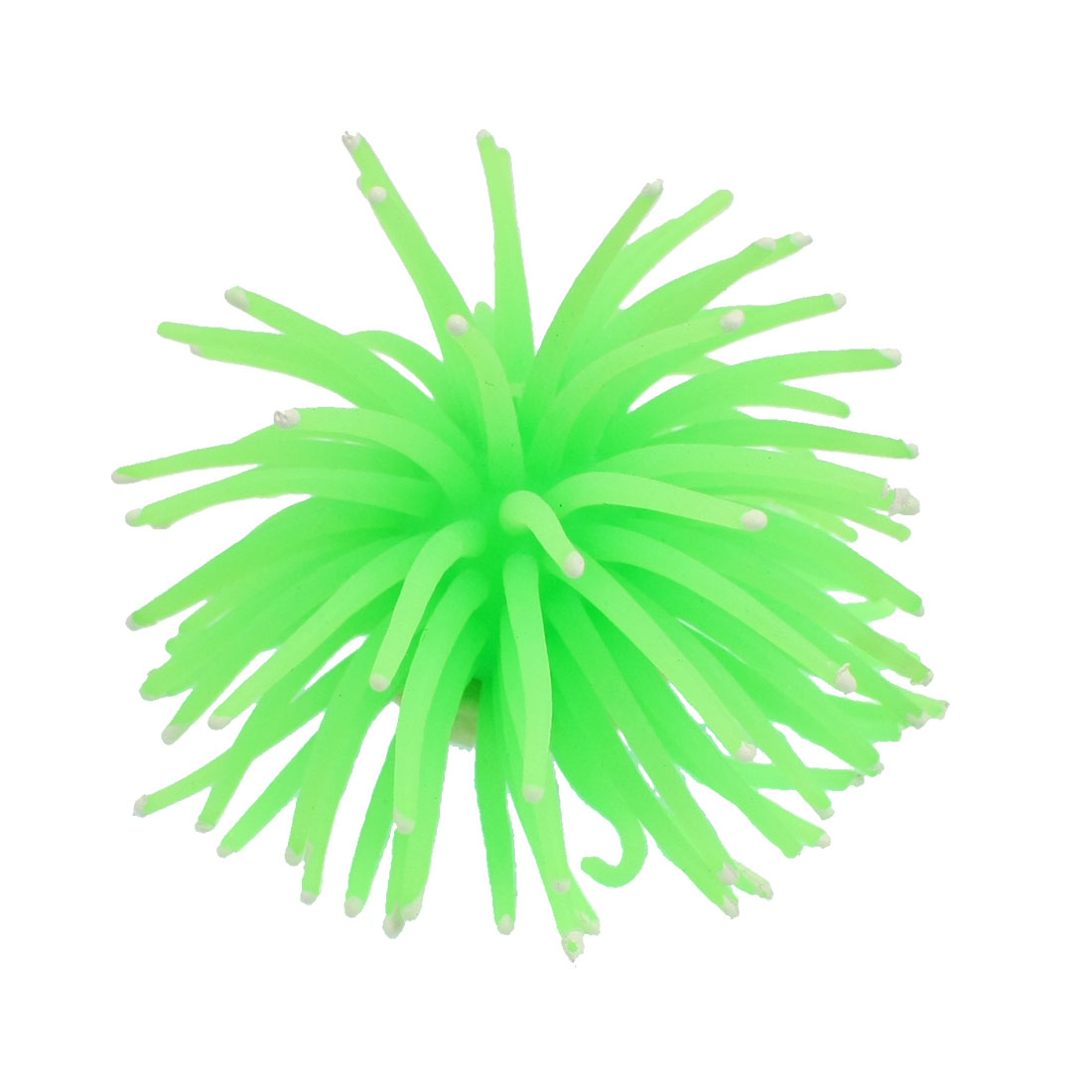 """Artificial Lively Silicone Sea Anemone Decoration Green for Fish Tank 2"""""""