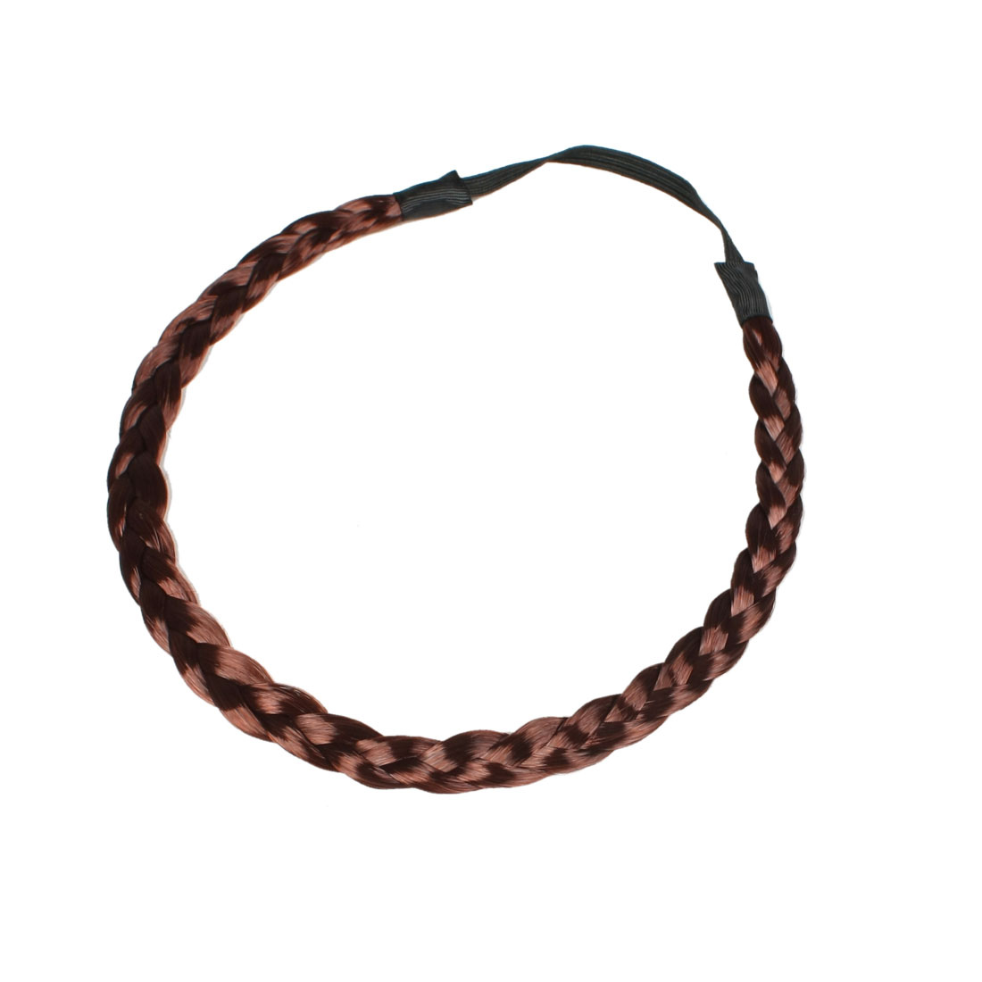 Wig Ponytail Burgundy Braided Elastic Hair Tie Band for Ladies Girls