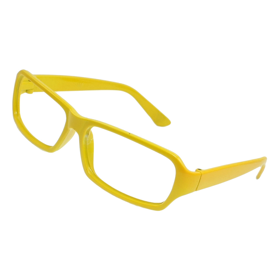 Yellow Plastic No Lens Eyewearing Eyeglasses Frame for Girls