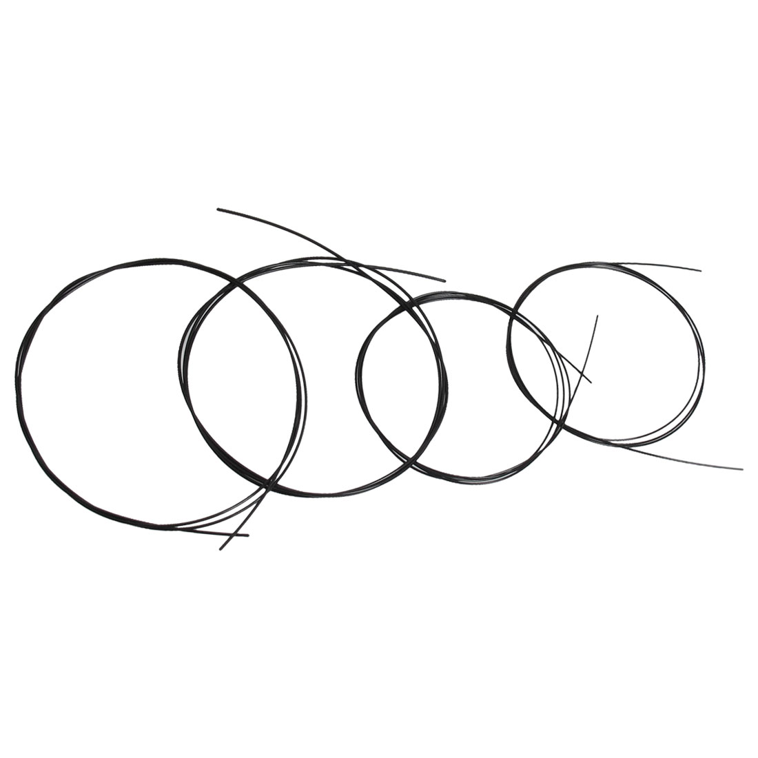 4 Pcs Beginners Replacement Steel Nylon Acoustic Guitar String Black