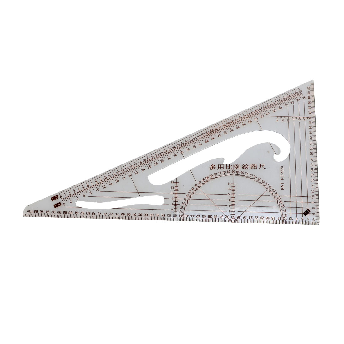Office Classroom Plastic Proportion Drafting Geometric Tool Triangle Ruler