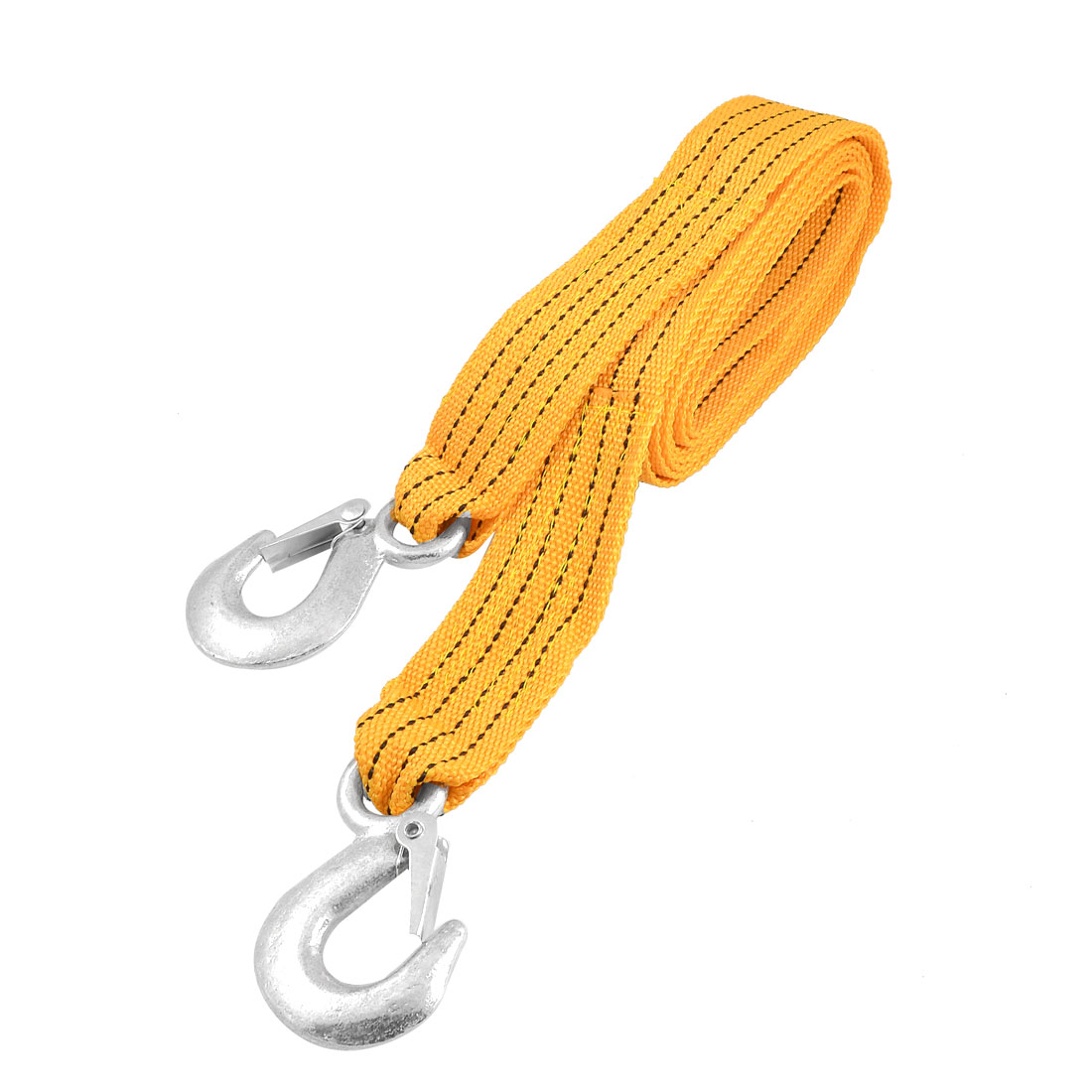 Car Forged Hook Ends Orange Nylon 3 Ton Towing Strap Belt 2.6M