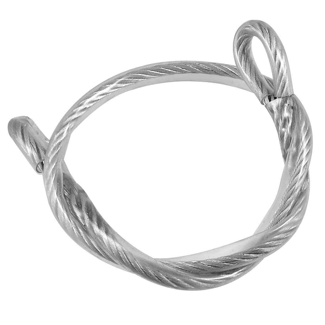 8mm x 80cm PVC Coated Ring End Steel Wire Rope
