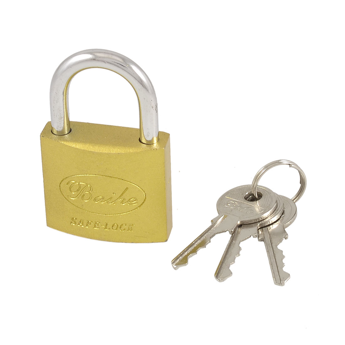 Warehouse Door Gold Tone Metal Security Padlock 38mm + Keys