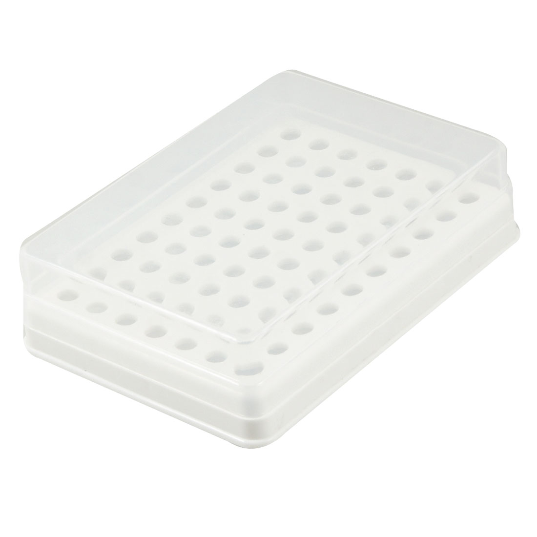 Plastic Rectangular 70 Positions Laboratory 0.2ml Centrifuge Tube Case Box
