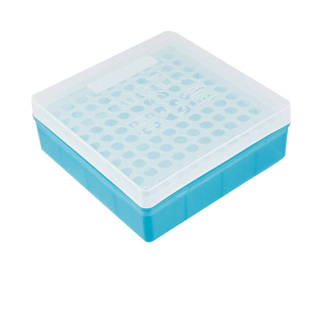 Plastic Square 100 Positions Laboratory 1.5ml Centrifuge Tube Case Box