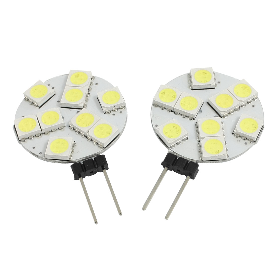 2 Pcs Car Auto G4 White 5050 SMD 9-LED Lamp Lights Side Pin Bulb