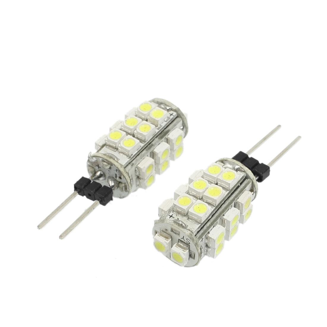 2 Pcs Car Auto G4 Base White 1210 3528 SMD 26-LED Light Lamp